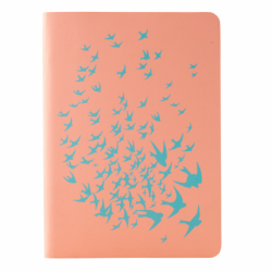 Книга записна Partner Soft Mini Birds,115*160, 80арк, кл.